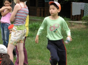 Children Play Drop the Hankie at Red Cross Summer Camp